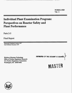 Primary view of object titled 'Individual plant examination program: Perspectives on reactor safety and plant performance. Parts 2--5: Final report; Volume 2'.