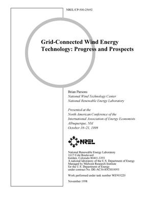 Primary view of object titled 'Grid-Connected Wind Energy Technology: Progress and Prospects'.