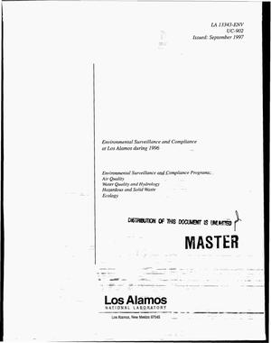 Primary view of object titled 'Environmental surveillance and compliance at Los Alamos during 1996'.