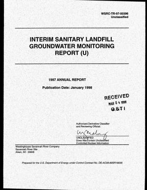 Primary view of object titled 'Interim Sanitary Landfill Groundwater Monitoring Report. 1997 Annual Report'.