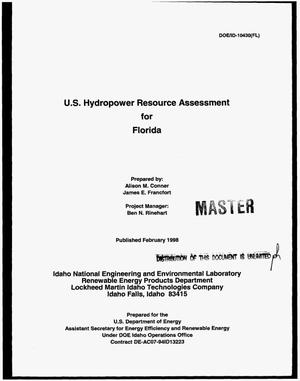 Primary view of object titled 'U.S. hydropower resource assessment for Florida'.