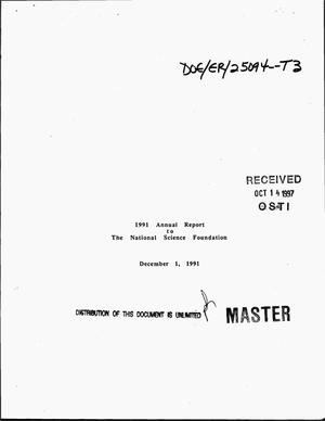 Primary view of object titled '1991 Annual report to the National Science Foundation'.