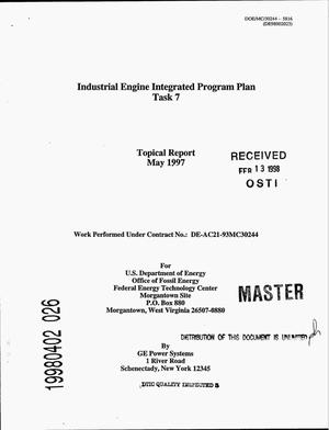 Primary view of object titled 'Industrial engine integrated program plan -- Task 7'.