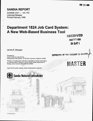 Primary view of object titled 'Department 1824 Job Card System: A new web-based business tool'.