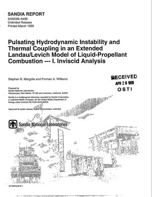 Primary view of object titled 'Pulsating Hydrodynamic Instability and Thermal Coupling in an Extended Landau/Levich Model of Liquid-Propellant Combustion -- I. Inviscid Analysis'.