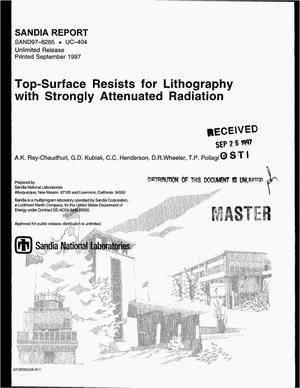 Primary view of object titled 'Top-surface imaging resists for lithography with strongly attenuated radiation'.