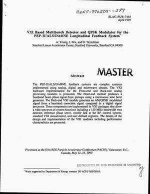 Primary view of object titled 'VXI based multibunch detector and QPSK modulator for the PEP-II/ALS/DA{Phi}NE longitudinal feedback system'.