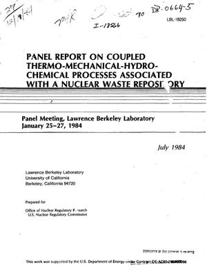 Primary view of object titled 'Panel report on coupled thermo-mechanical-hydro-chemical processes associated with a nuclear waste repository'.