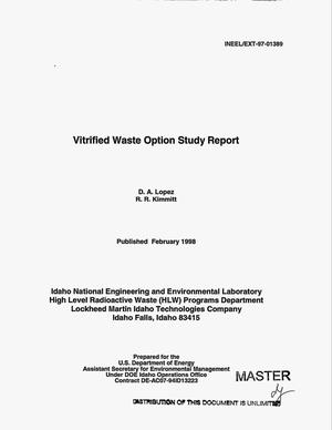 Primary view of object titled 'Vitrified waste option study report'.