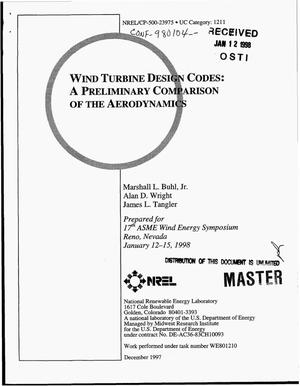 Primary view of object titled 'Wind turbine design codes: A preliminary comparison of the aerodynamics'.