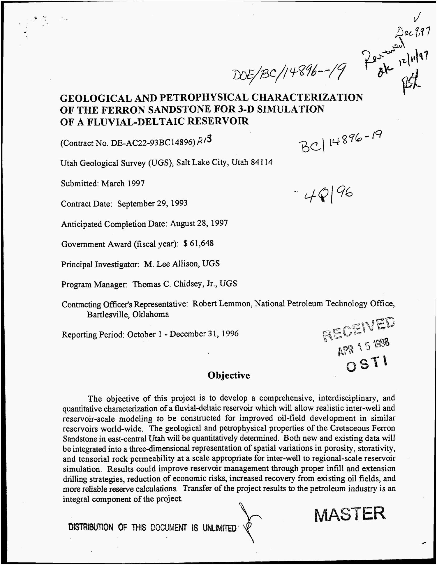 Geological and petrophysical characterization of the Ferron Sandstone for 3-D simulation of a fluvial-deltaic resevoir. Quarterly report, October 1, 1996--December 31, 1996                                                                                                      [Sequence #]: 1 of 22