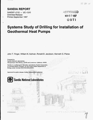 Primary view of object titled 'Systems study of drilling for installation of geothermal heat pumps'.