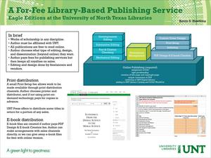 Primary view of object titled 'A For-Fee Library-Based Publishing Service: Eagle Editions at the University of North Texas Libraries [2]'.