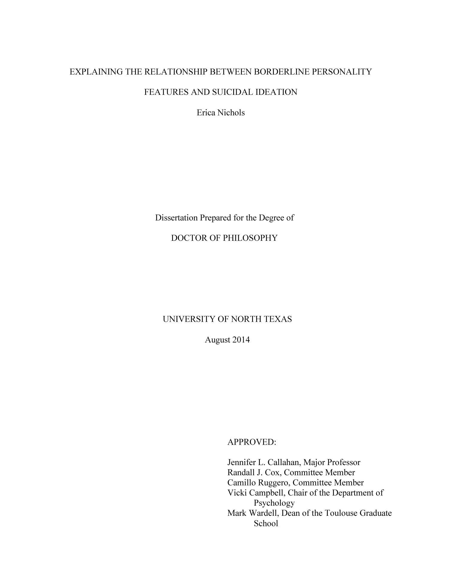 Dissertation avoidance syndrome