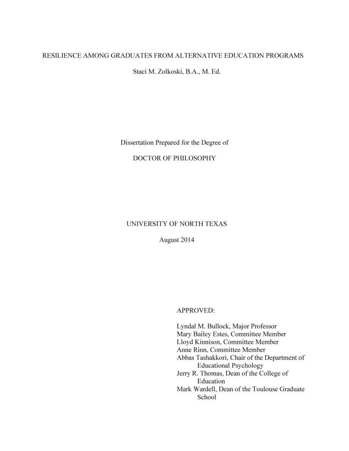 Failed dissertation