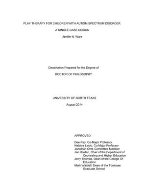 autism phd thesis