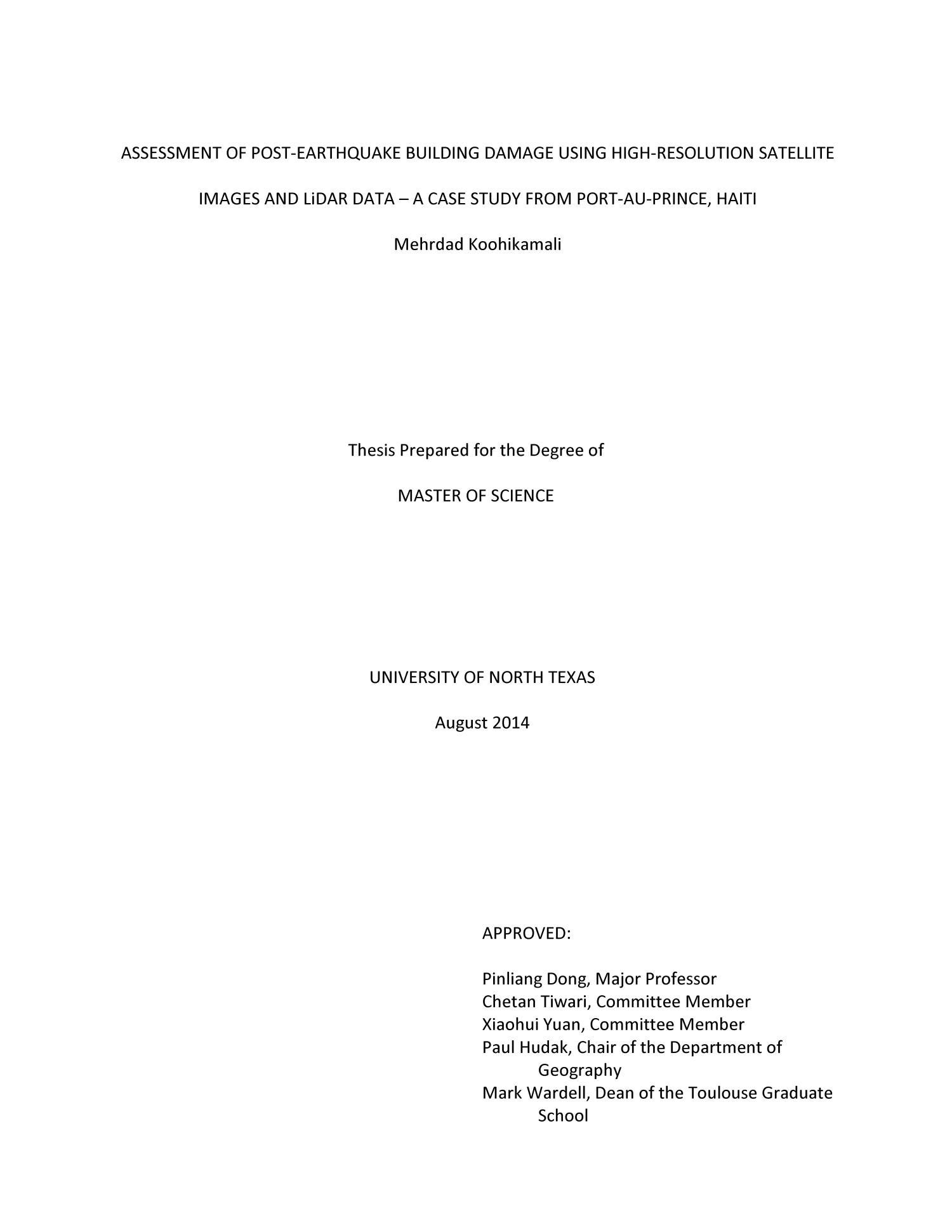Haiti earthquake thesis popular argumentative essay writing websites uk