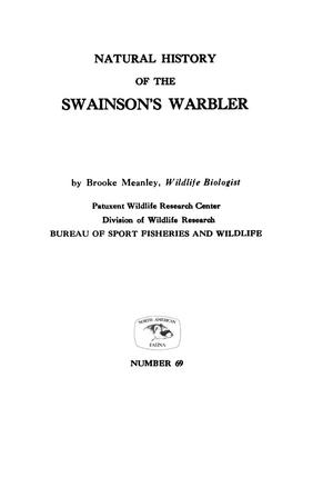 Primary view of object titled 'Natural History of the Swainson's Warbler'.