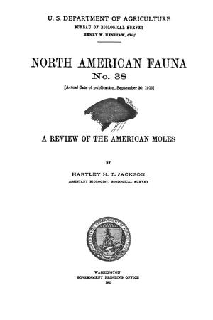 Primary view of object titled 'A Review of the American Moles'.