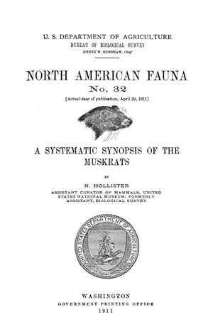 Primary view of object titled 'A Systematic Synopsis of the Muskrats'.