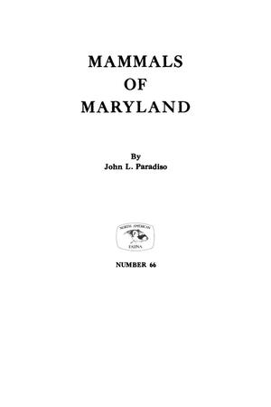 Primary view of object titled 'Mammals of Maryland'.