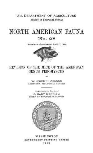 Primary view of object titled 'Revision of the Mice of the American Genus Peromyscus'.