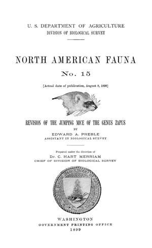 Primary view of object titled 'Revision of the Jumping Mice of the Genus Zapus'.