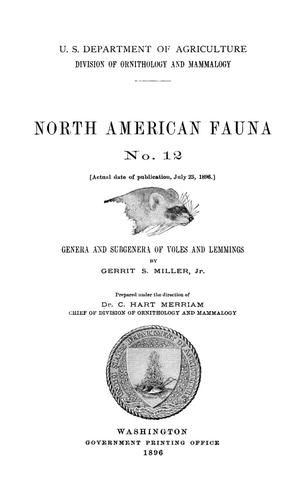 Primary view of object titled 'Genera and Subgenera of Voles and Lemmings'.