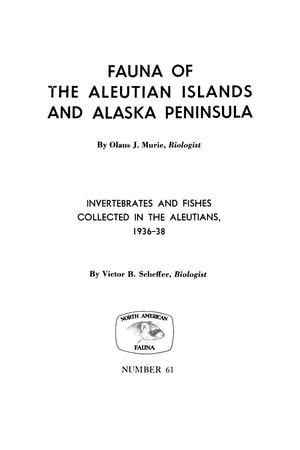Primary view of object titled '[Fauna of Alaska and the Aleutian Islands]'.