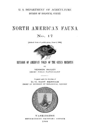 Primary view of object titled 'Revision of American Voles of the Genus Microtus'.