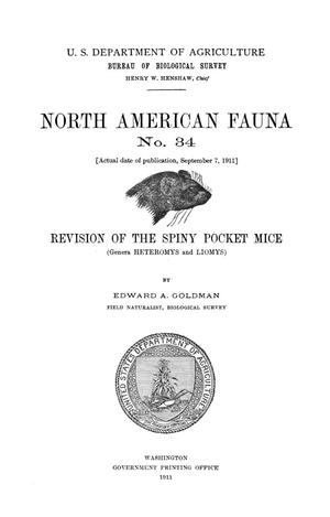 Primary view of object titled 'Revision of the Spiny Pocket Mice: (Genera Heteromys and Liomys)'.