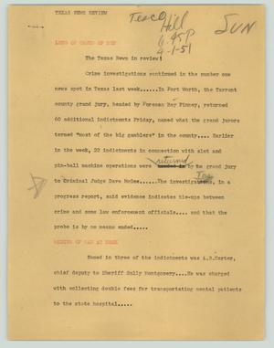 Primary view of object titled '[News Script: Texas News Review]'.