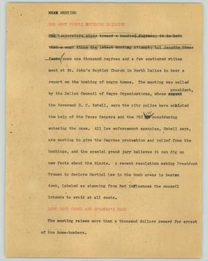 Primary view of object titled '[News Script: Meeting]'.