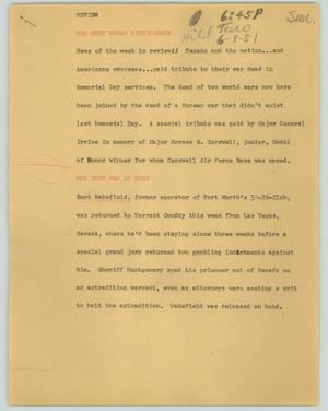 Primary view of object titled '[News Script: Review]'.