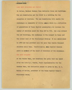 Primary view of object titled '[News Script: News briefs 1]'.