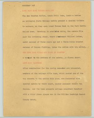 Primary view of object titled '[News Script: Mothers' day]'.
