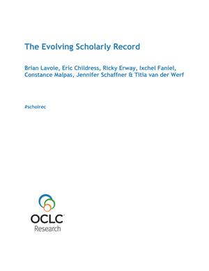 Primary view of object titled 'The Evolving Scholarly Record'.