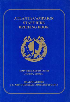 Primary view of object titled 'Atlanta Campaign Staff Ride Briefing Book'.