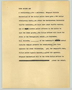 Primary view of object titled '[News Script: News briefs]'.