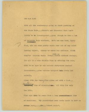 Primary view of object titled '[News Script: One man band]'.