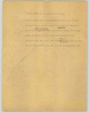 Primary view of object titled '[News Script: Treaty makers]'.