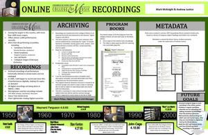 Primary view of object titled 'Online College of Music Recordings at the University of North Texas'.