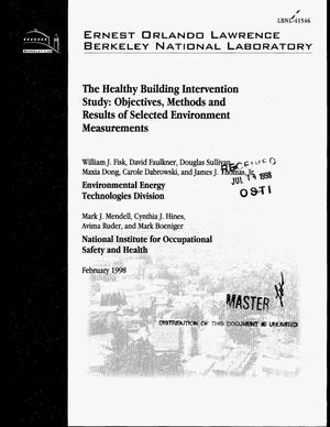 Primary view of object titled 'The healthy building intervention study: Objectives, methods and results of selected environmental measurements'.