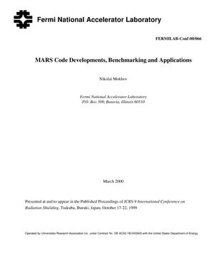 Primary view of object titled 'MARS code developments, benchmarking and applications'.