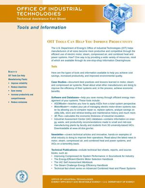 Primary view of object titled 'OIT fact sheet: Tools and information'.