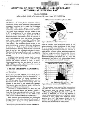Primary view of object titled 'Overview of CEBAF operations and SRF-related activities at Jefferson Lab'.