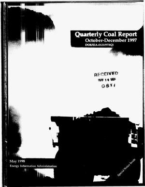 Primary view of object titled 'Quarterly coal report, October--December 1997'.