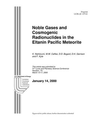 Primary view of object titled 'Noble gases and cosmogenic radionuclides in the Eltanin Pacific meteorite'.