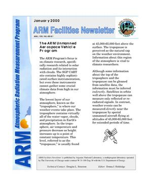 Primary view of object titled 'Atmospheric Radiation Measurement Program facilities newsletter, January 2000'.