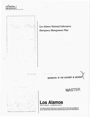 Primary view of object titled 'Los Alamos National Laboratory emergency management plan. Revision 1'.